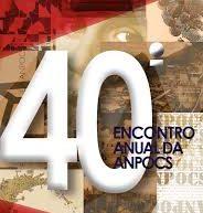 40º ENCONTRO ANUAL DA ANPOCS EM CAXAMBU