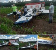 Mulher morre e duas pessoas ficam feridas em queda de avião em Baependi